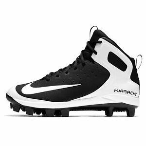 53ab71a21ac8f Details about Mens Nike Alpha Huarache Pro Mid Molded MCS Baseball Cleats  BLACK WHITE sz 9
