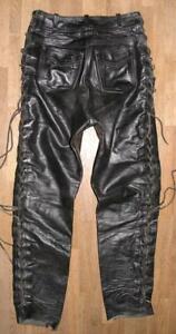 fertige-034-BLACK-POINT-034-Damen-Schnuer-LEDERJEANS-Lederhose-in-schwarz-ca-38