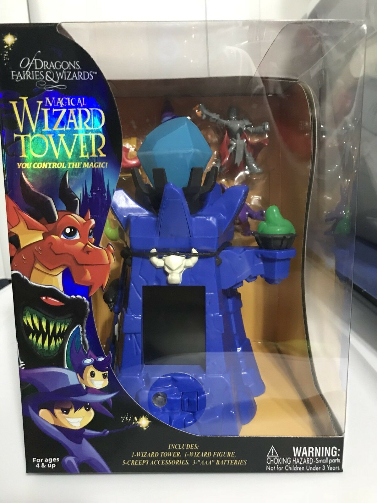 Of Dragons, Faries & Wizards Magical Wizards Blau Tower Playset New