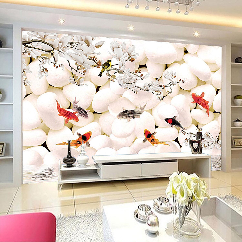 3D Carp Stone 43 Wallpaper Murals Wall Print Wallpaper Mural AJ WALLPAPER UK