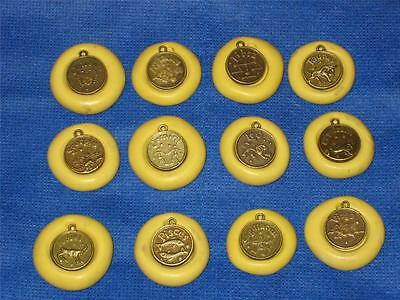 Zodiac Pisces Charm Silicone Push Mold 971 For Jewelry Craft Resin Astrology