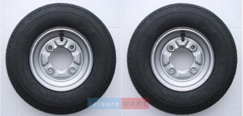 4.00 x 8 trailer wheels with 115mm PCD Erde Daxara A pair 400 x 8 inch 4.80