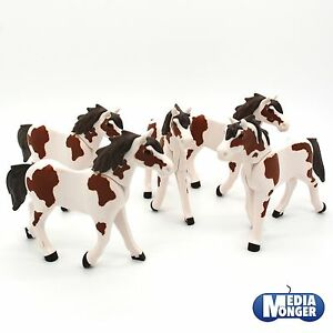 playmobil western centre questre set 5 x cheval brun. Black Bedroom Furniture Sets. Home Design Ideas