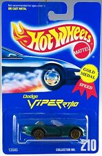 Hot Wheels No. 210 Dodge Viper RT/10 13585 1992 Green With Gold UH's MOC