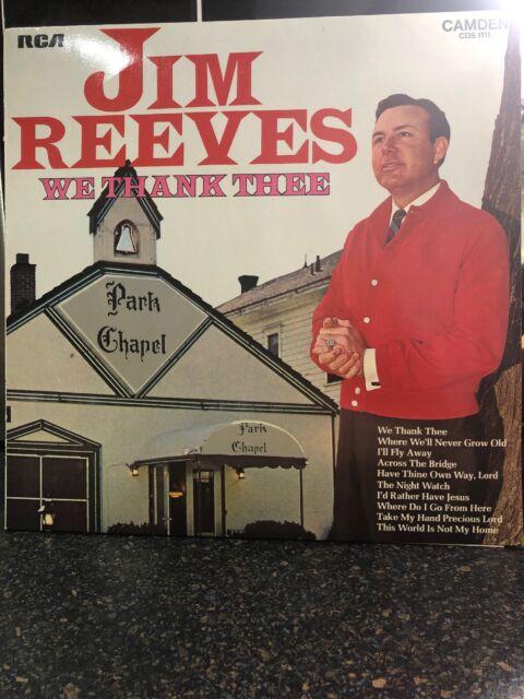 Jim Reeves We Thank Thee Vinyl LP Record Album