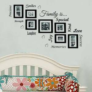 Image Is Loading Family Quote Picture Photo Frames Wall Stickers Living