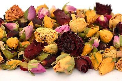 Mix Boccioli Di Rose 500g Fiori Secchi, Asciugare Rose Craft Tè Potpourri Sapone Candela Decor-mostra Il Titolo Originale Ampie Varietà