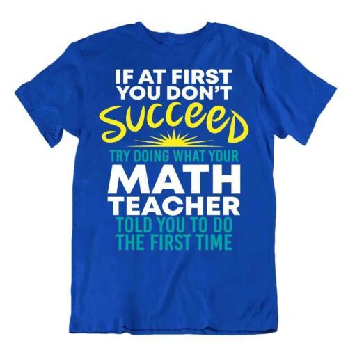 Math Teachers Sugestion T-Shirt Tee T Science Humor Shirt Best Idea Gift