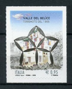 Italy-2018-MNH-1968-Belice-Valley-Earthquake-1v-S-A-Set-Architecture-Stamps
