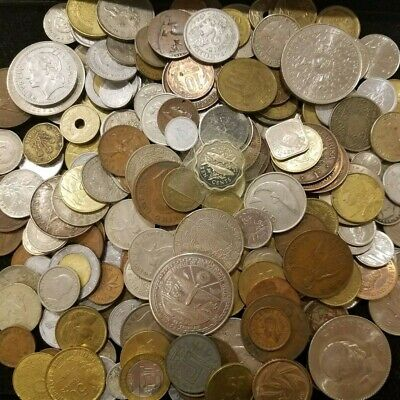 Lot 4 Pound 1816 Grams Of Mixed Foreign World Coins Free Shipping