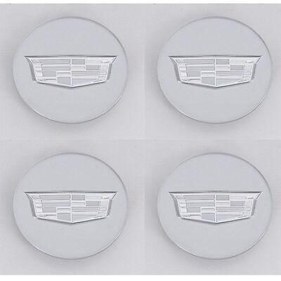 BLACK CENTER CAPS SET OF 4 MOST CADILLAC FACTORY WHEELS
