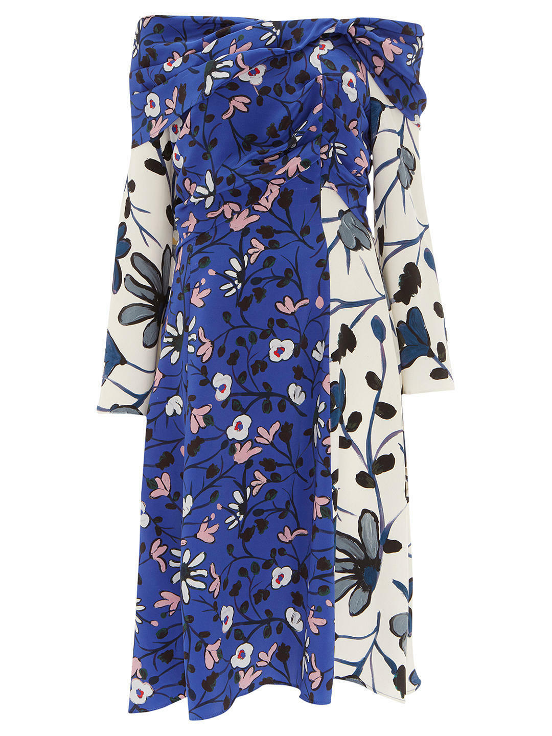 Finery Casella Off Shoulder Virginia Bellflower Print Dress UK SIze 16 RRP