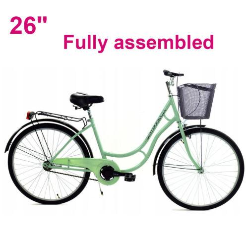 "1 speed Black Frame 17/"" 26/"" Womens Bike Ladies Bicycles City Bikes  26/"""