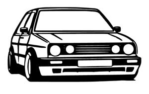 Mk2 Golf Gti Silhouette Car Sticker Outline Decal Vinyl Stickers Ebay