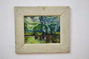 Scottish-oil-on-Board-River-Tweed-1954-signed-Archibald-Peddie-framed-17-x-14-5
