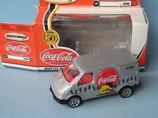Matchbox Ford Transit Van Silver Coca-Cola Coke Toy Model Van