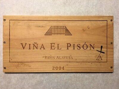 Open-Minded 1 Rare Wine Wood Panel Viña El Pisón Vintage Crate Box Side 6/18 870 Bar Tools & Accessories