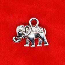 8 x Tibetan Silver Elephant Charm Animal Pendant Jewelry Making Craft