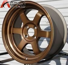 16X8 +20 ROTA GRID CLASSIC SPORT BRONZE 4X100 FIT VW CABRIOLET RABBIT JDM WHEEL