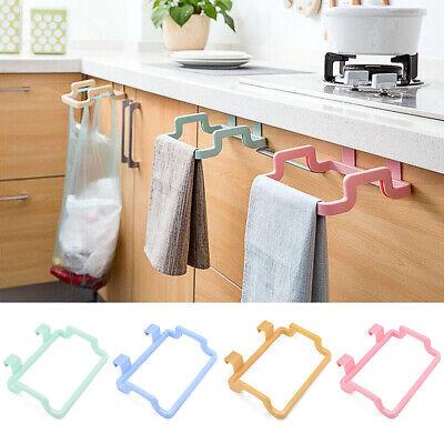 Trash Garbage Bag Holder Hook Cabinets Cloth Rack Towel Rack Kitchen Tool New Ebay
