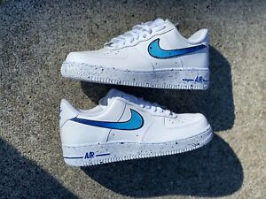 Nike Air Force 1 Custom Blue Splatter Available In All Sizes For