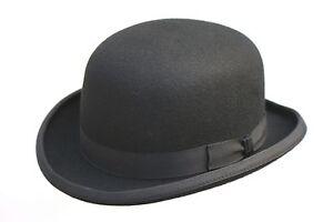 di di formale Cappello bombetta casual tradizionale nero a marca di moda lana Uxtfn6tqSg
