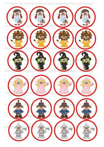 24 Comestible Cake Toppers Decoracin dibujos animados lindo