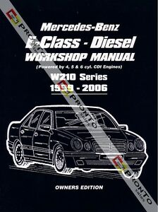 workshop repair manual mercedes benz e class diesel w210 e200 e220 rh ebay com Mercedes- Benz S-Class Mercedes- Benz W211
