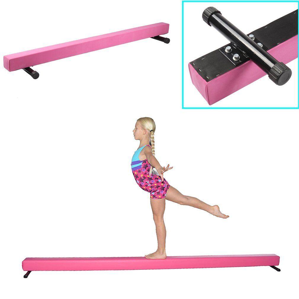183cm High Round Metal Feet Gymnastics Balance Beam Home Gym Training Bar