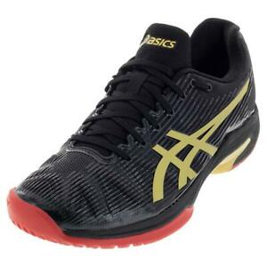 NEW-WOMEN-039-S-ASICS-SOLUTION-SPEED-FF-LIMITED-ED-001-BLK-GOLD-TENNIS-SHOES