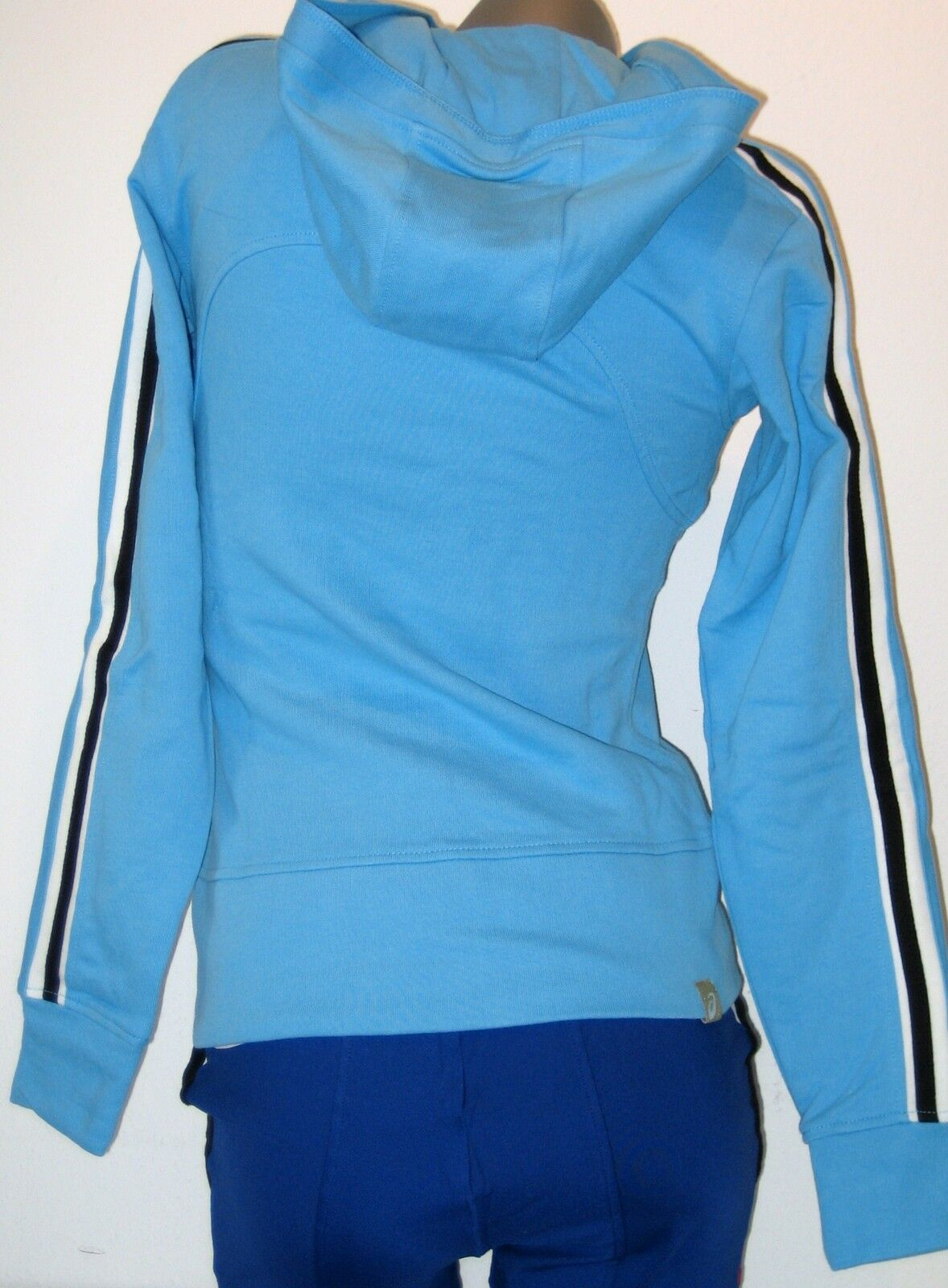ASICS Damen Hoodie Sweat Größe XS ( 32 / 34 ) blau NEU JACKET PERU