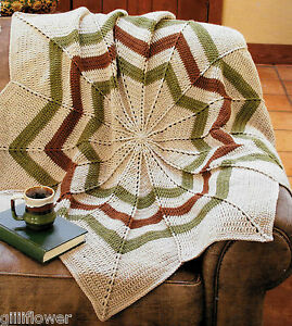 Vintage Ripple Crochet Afghan Pattern : ROUND RIPPLE AFGHAN - VINTAGE CROCHET PATTERN