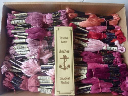 Anchor MEZ Sticktwist freie Farbwahl NEU Rosa // Rottöne 5g 8m Stickgarn