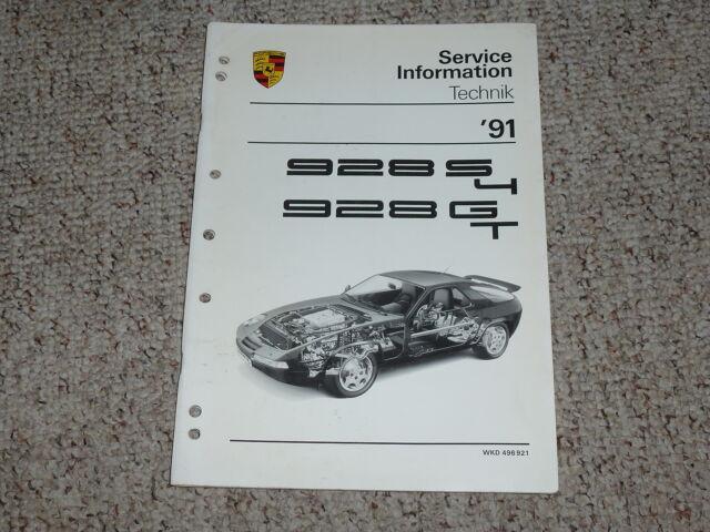 1991 Porsche 928s4 928gt 928 S4 Gt Shop Service Repair