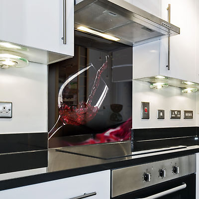 KÜCHENRÜCKWAND Spritzschutz Küche Gehärtetes Glas Laterne Wasser rot