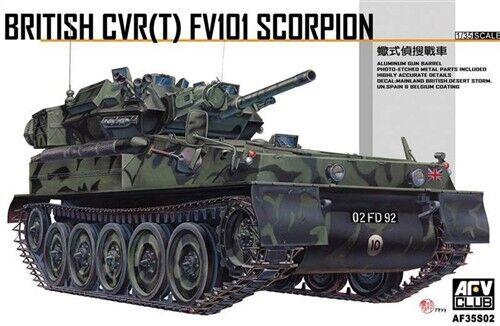 AFV Club 1 35  CVR(T) FV101 Scorpion- Tank Model Kit