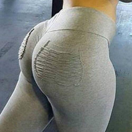 Top Women Yoga Sports Workous Pants Leggings Stretch Elastic Fitness Gym Trouser