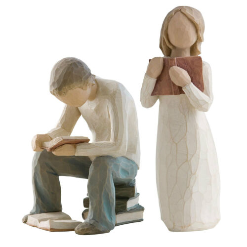 Older Brother /& Sister Figurine Gift Set Family Group Willow Tree Siblings