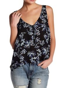 7bdbf9485385b NWT Free People Floral Print Rose Tie Front Tank Top Cami Shirt ...