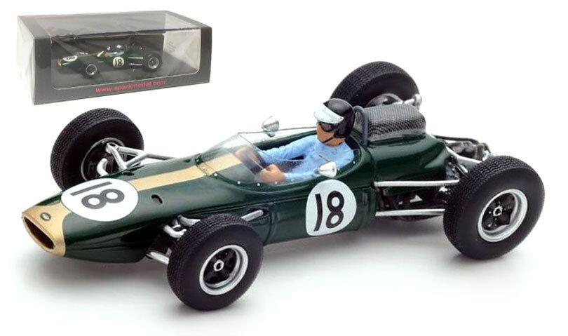 Spark S5250 Brabham BT7 nd holandés GP 1963-dan Gurney 1 43 Escala
