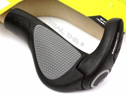 LARGE Ergon GP2-L Ergo Handlebar Bike Grips MTB Hybrid 2-Finger Bar Ends Black