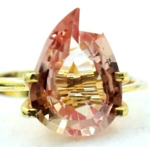 5.10 Ct Natural Padparadscha Sapphire Ceylon Pear Cut Certified Loose Gemstone