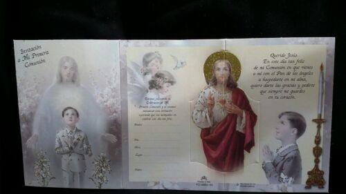 Spanish First Communion Invitations Niño Invitaciones de  Primera Comunion