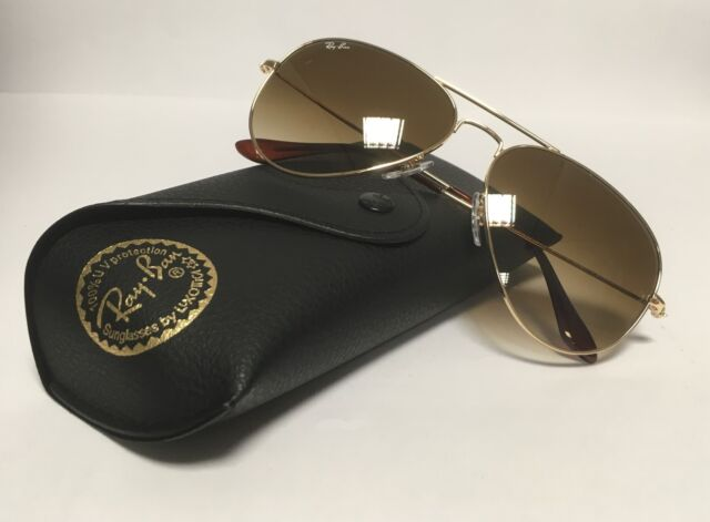 9dc7c40234d7a New RAY BAN Sunglasses 3025 001 51 Aviator Gold Ray-Ban 58mm Metal RayBan  Brown