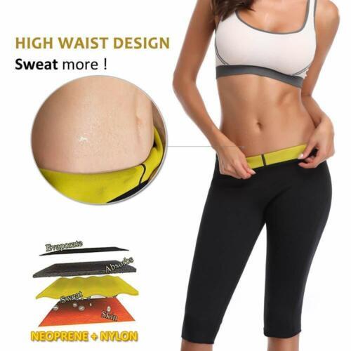 Women/'s Sweat Sauna Thigh Slimmer Leggings for Workouts Neoprene Sports Shorts