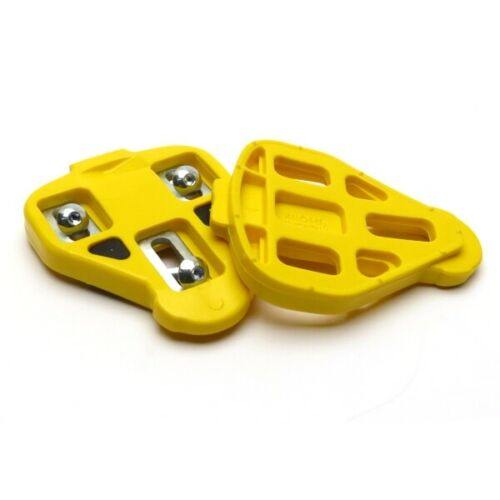 New Miche Road Bike Pedal Cleats 3 Holes Yellow Fixed No Float Hardware Included