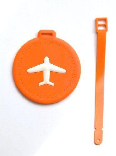 Nov@go® label luggage suitcase/label airplane (orange/round)