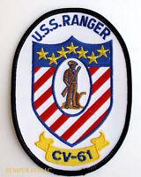 USS RANGER CV-61 PATCH US NAVY VETERAN GIFT AIRCRAFT CARRIER PIN UP CVA WING WOW