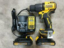 Dewalt 20v Atomic Brushless 12 Hammer Drill Kit With 2 Battery Amp Charger Dcd709