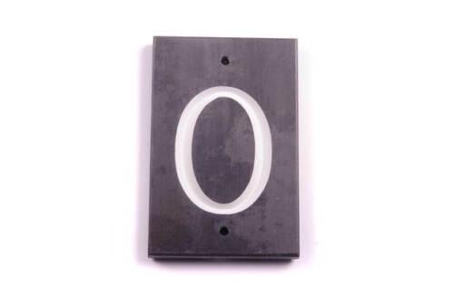 Plaque 90mm x 140mm 1x Vis Sur Numéro 0//5//6//9 Ardoise Numéro Tuile